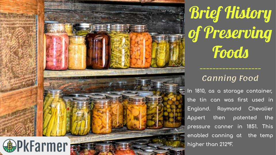 Brief History of Preserving Foods - Canning Food