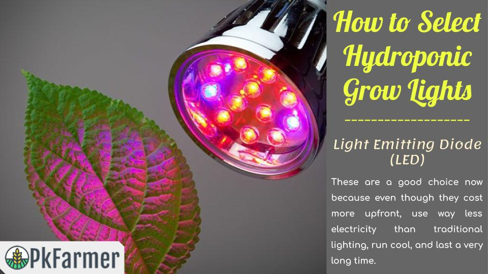 How to Select Hydroponic Grow Lights - Light Emitting Diode - LED
